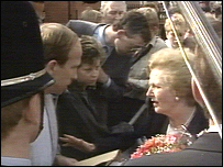 Margaret Thatcher in Tees Valley Crowd