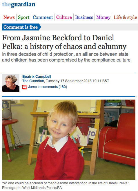 From Jasmine Beckford to Daniel Pelka: a history of chaos and calumny by Beatrix Campbell