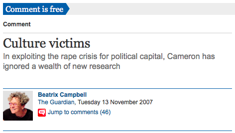 The Guardian, Culture Victims, Bea Campbell