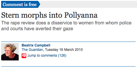 The Guardian, Stern Morphs into Pollyana, Bea Campbell